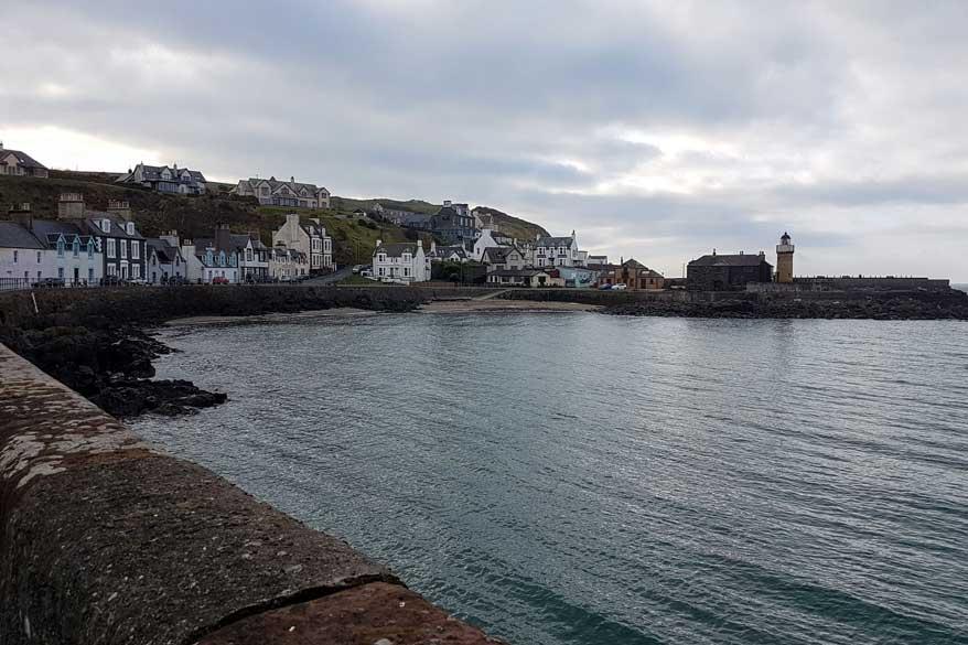 Portpatrick Hafenbecken Schottland