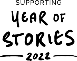 year of stories 2022 logo